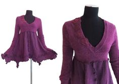 Reserved For Skymore Asymmetric Tunic Sweater by RebeccasArtCloset