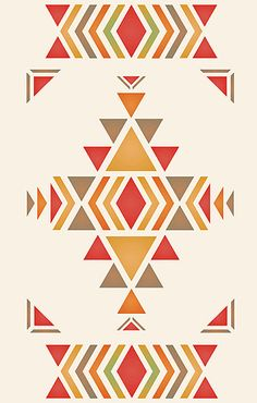 Navajo Large Firecreek Theme Pack Stencil ( for a floor mat.. )