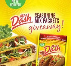 GOGOGO! 50,000 FREE Mrs. Dash Samples! Mrs Dash Seasoning, Seasoning Mixes, Facebook Giveaway, Tacos, Canada, Free Samples, Coupons, Snack Recipes, Chips