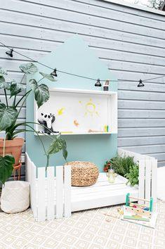 Small Backyard Patio, Backyard For Kids, Outdoor Play Spaces, Kids Outdoor Play, Diy Kids Furniture, Diy Playground, My Secret Garden, Raised Garden Beds, Bedroom Colors