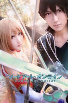 Kirito & Asuna #SAO Sword Art Online #Cosplay
