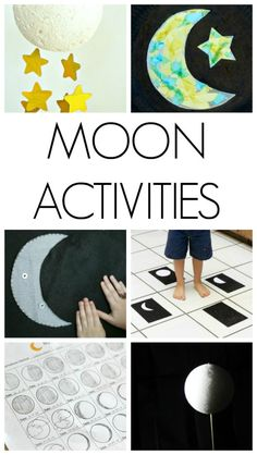 Activities for Kids These are awesome moon activities for kids. Great ways to get kids excited about space and the moon. adThese are awesome moon activities for kids. Great ways to get kids excited about space and the moon. Planets Activities, Ramadan Activities, Kindergarten Activities, Science Activities, Science Experiments, Kid Science, Space Activities For Kids, Toddler Activities, Space Theme For Toddlers