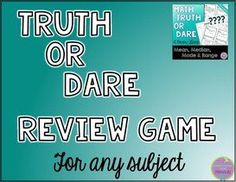 Video to learn how to play Truth or Dare review game with any content:-)