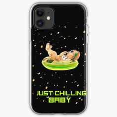 'Just Chilling Baby' iPhone Case by Baby Iphone, Iphone 11, Cell Phone Covers, Iphone Case Covers, Free Stickers, Cover Design, Chill, Printed, Awesome
