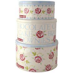 """Rose & Bee"" Rose and Bee Set of 3 Cake Tins at Emma Bridgewater"