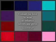 Clothing Colors Long Gray Hair Silver Grey Inspiration