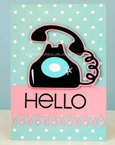 Cute - Just ordered the cartridge that has this phone (Nifty Fifties). This card is beyond cute!!