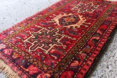 ペルシャ絨毯 アフシャル族作 手織り 85cm ラグ アンティーク家具 ヴィンテージ カーペット インテリア 玄関マット ベッドサイドAPRS5725_絨毯 ラグ カーペット 手織り