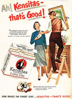 cigarette Kensitas advertising