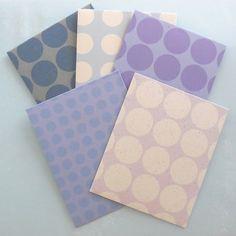 丸並び模様ぽち袋セット 5枚組 紫 カード・レター QK ハンドメイド通販・販売のCreema