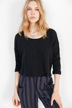 Silence + Noise Cross-Back Cropped Top
