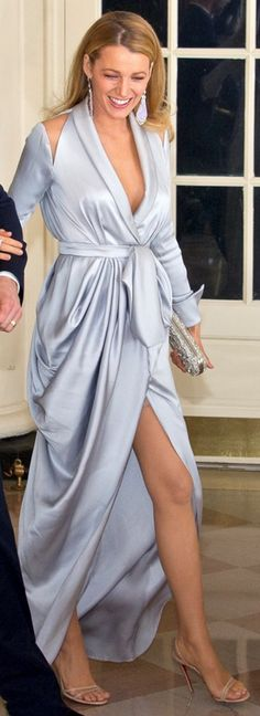 Blake Lively in Dress – Ralph & Russo  Shoes – Christian Louboutin