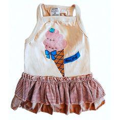 Vestido para Cachorro Babadinhos Sorvete Chocolate Dear Dog - MeuAmigoPet.com.br #petshop #cachorro #cão #meuamigopet