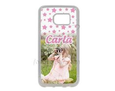 Cover Galaxy S7 in Silicone Pink stars