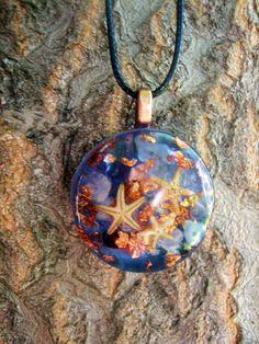 Starfish Trio Orgone Energy Pendant Necklace by TwoChez on Etsy, $22.00