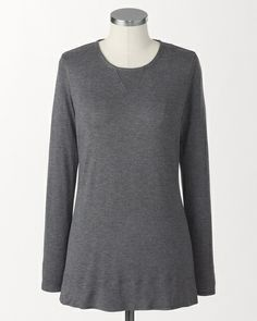 Weekend knit tunic Coldwater Creek $60 neo navy