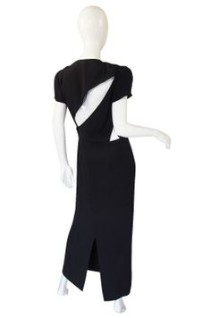 1980s Krizia Back Cut Outs Dress | From a collection of rare vintage evening dresses at http://www.1stdibs.com/fashion/clothing/evening-dresses/