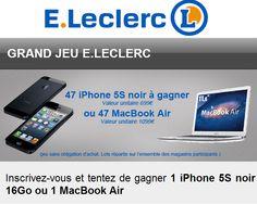 Parmi les tops des QR codes scannés par la communauté Mobiletag le 4 novembre 2013 : LECLERC avec un grand jeu concours ! Vous aussi téléchargez l'application et scannez avec votre smartphone : http://8.mobiletag.com/?id=566