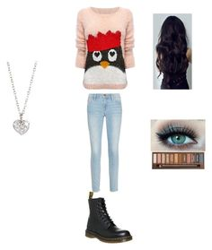 """""""Sans titre #68"""" by littledfamily ❤ liked on Polyvore featuring Lipsy, Frame Denim, Dr. Martens and Finn"""