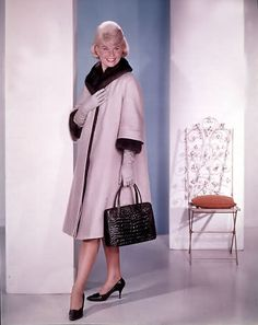 Doris Day in That Touch of Mink - the coat 'topper' of different colours...