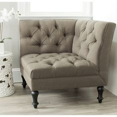 @Overstock.com - Safavieh Jack Olive Club Chair - Bring a touch of elegance and sophistication to your room with this tufted club chair. This chair has a durable birch wood frame and is upholstered with polyester for lasting beauty. Its unique design makes it perfect for use in a corner.  http://www.overstock.com/Home-Garden/Safavieh-Jack-Olive-Club-Chair/7634070/product.html?CID=214117 $409.99
