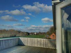 Winterausblick von der Terasse der Wohnung Wolken #Urlaub #Ostsee #Geltingerbirk #Nachhaltig