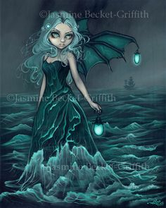 Sea Beacon - Strangeling: The Art of Jasmine Becket-Griffith-What I want on the underside of my right arm. :)