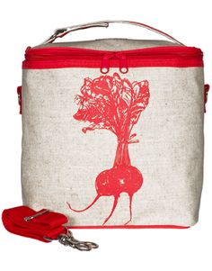 So Young Cooler Bags http://www.soyoung.ca/cooler-bags/red-beet-large-cooler-bag.html