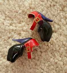 Fashion Royalty Integrity Toys Accessory Red Blue Patent Shoes Heels | eBay