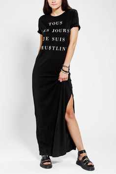 Silence &  Noise French Hip Hop Maxi Dress #urbanoutfitters