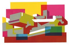 In Paul Catherall's illustrations of London's famous buildings and landmarks, the city appears as a collection of two-dimensional shapes, rich hues, sharp li. Hayward Gallery, Dimensional Shapes, Quirky Home Decor, Innovation Design, Business Innovation, Cartography, Business Design, Art Images, Skyline
