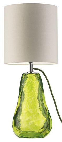 Lime Table Lamp: InStyle-Decor.com Designer Lime Green Art Glass Pear Lamp $895, Modern Glass,Lighting