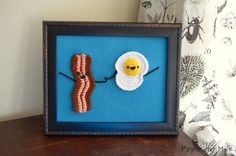 bacon and eggs art