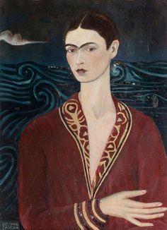 Frida Kahlo, Self-Portrait in a Velvet Dress, 1926