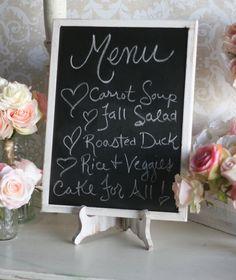 Rustic Wedding Chalkboard Shabby Chic Decor 12x16 by braggingbags