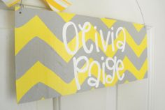 Personalized Chevron Baby Name Sign Child by yourethatgirldesigns, $30.00