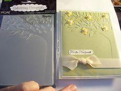 darice embossing folders card ideas   Darice Tree Leaf A2 Embossing Folder Card Last One   eBay