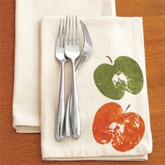 Blot away excess moisture with a paper towel from apple, then apply paint with a  brush