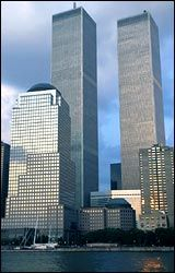 World Trade Center, in the subway and at the top in the Windows on the World Restaurant North Tower