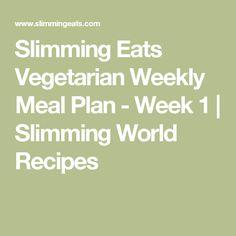 Slimming Eats Vegetarian Weekly Meal Plan - Week 1 | Slimming World Recipes