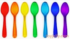 DIY How To Make Rainbow Gummy Jelly Spoon Pudding Recipe Mold Ice Cream Coloring Page Nursery Rhymes - YouTube