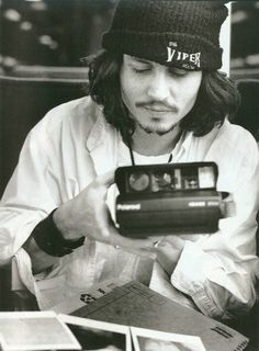 Johnny Depp. #polaroid