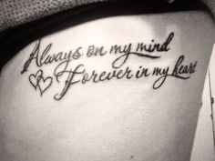 Always on my mind forever in my heart❤️ RIP grandma & poppa #newtattoo #onmyribs #tattoomania