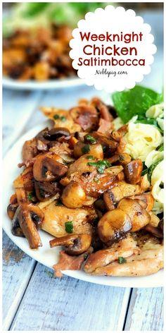 Weeknight Chicken Saltimbocca