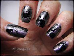 Nail Art by Belegwen: Splatter-kokeilua