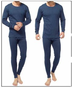 Thermal Long Johns, Maine, Crew Neck, Underwear, Pajamas, Long Sleeve, Cotton, Tops, Fashion