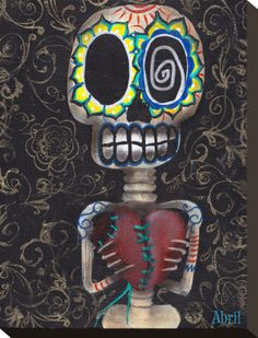 Toma Mi Corazon Stretched Canvas Print by Abril Andrade at AllPosters.com