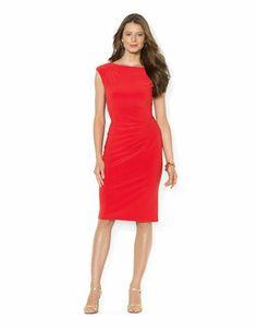 #WearRed Cap Sleeved Jersey Dress - PEPPER - http://1tagdeals.com/fashion/shop/lauren-ralph-lauren-cap-sleeved-jersey-dress-pepper-14/