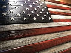 Items similar to Rustic shark pallet wall art decor on Etsy Best Flags, All Flags, Pallet Flag, Wood Flag, Record Stand, Wooden American Flag, Brad Nails, Wooden Stars, Hanging Wire