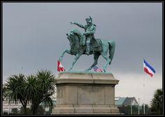 Equestrian statue of Napoleon I in  Cherbourg, France